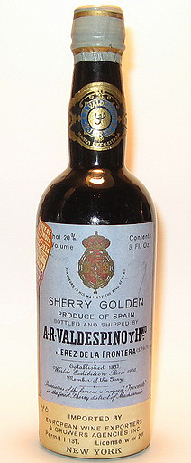 A. R. Valdespino Golden Sherry