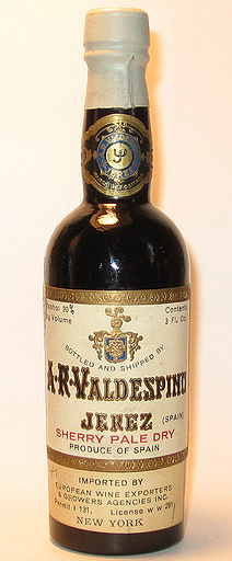 A. R. Valdespino Pale Dry Sherry