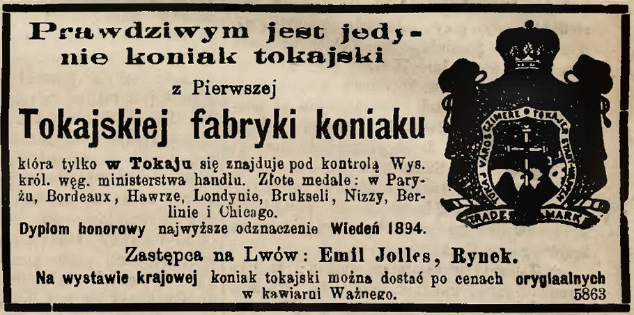 Tokajska Fabryka Koniaku - 1894