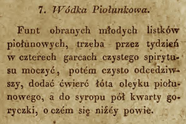 Wódka Piołunkowa 1829 2