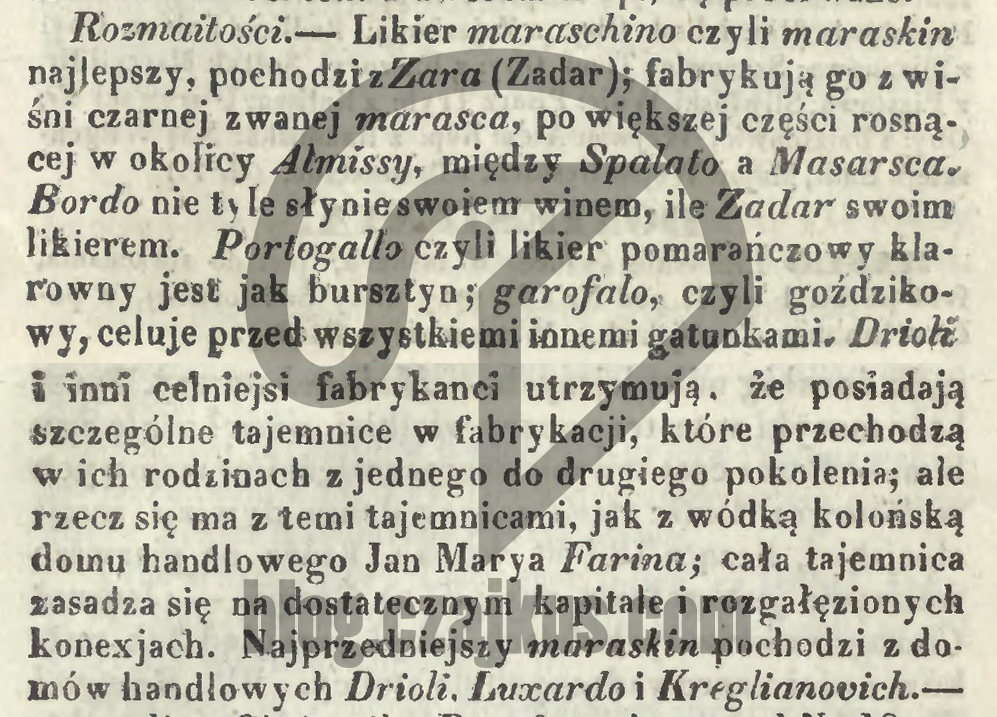 Maraschino1 KurjerWarszawski 1849 r 2 - Kopia