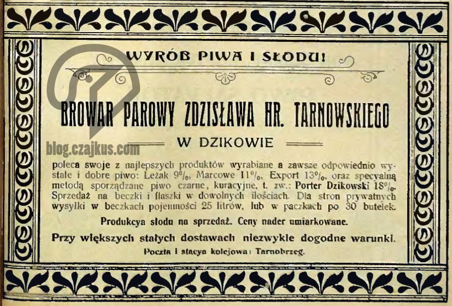 Tarnowski, Dzików - 1906 W