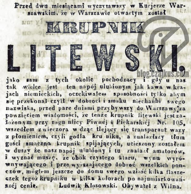 1840 - Krupnik Litewski wWarszawie