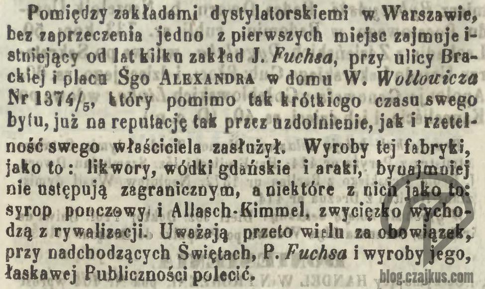 1858 - Fuchs Dystylarnia Parowa