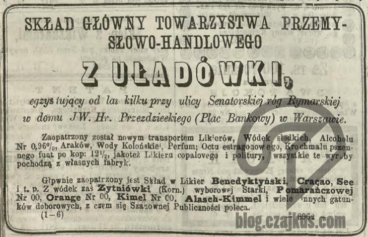1872 nr201 - Uładówka