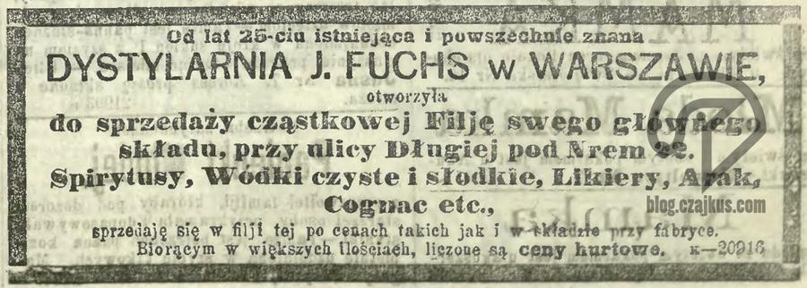 1881 - J. Fuchs Dystylarnia