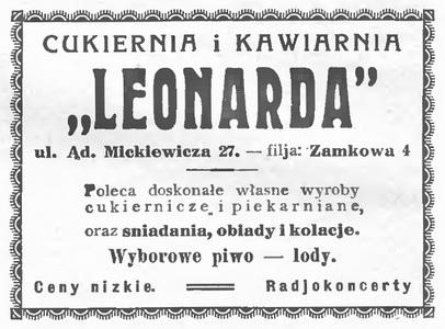1933 Leonarda Kawiarnia Wileńska