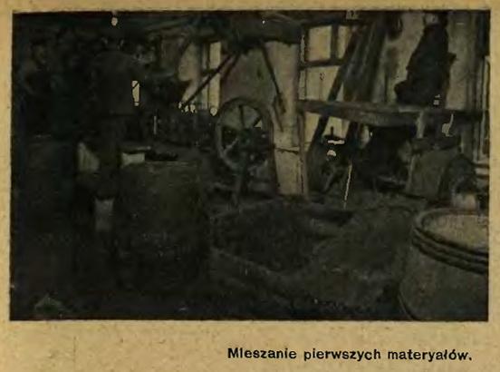 Syrena-Rekord 5 Mieszanie pierwszych materjałów