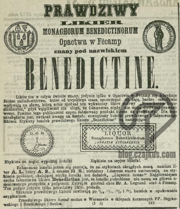 1873 - Benedyktynka