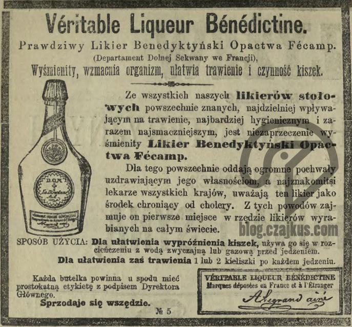 1885 KW 354b - Benedyktynka