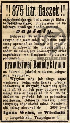 1886 - Benedyktynka