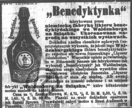 1888 Benedictine - podróbka