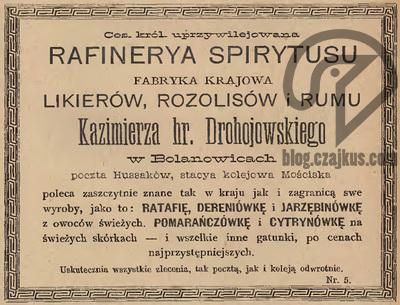 1894 - Drohojowski hr Kazimierz, Bolanowice