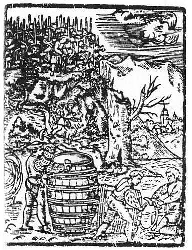 praca wwinnicy Ilustracja zM. Siennik, Herbarz, Kraków 1568