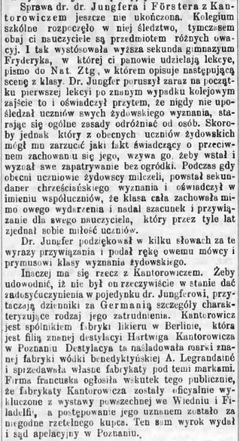 1880.XI.20 - Sprawa Kantorowicza - Gazeta Toruńska