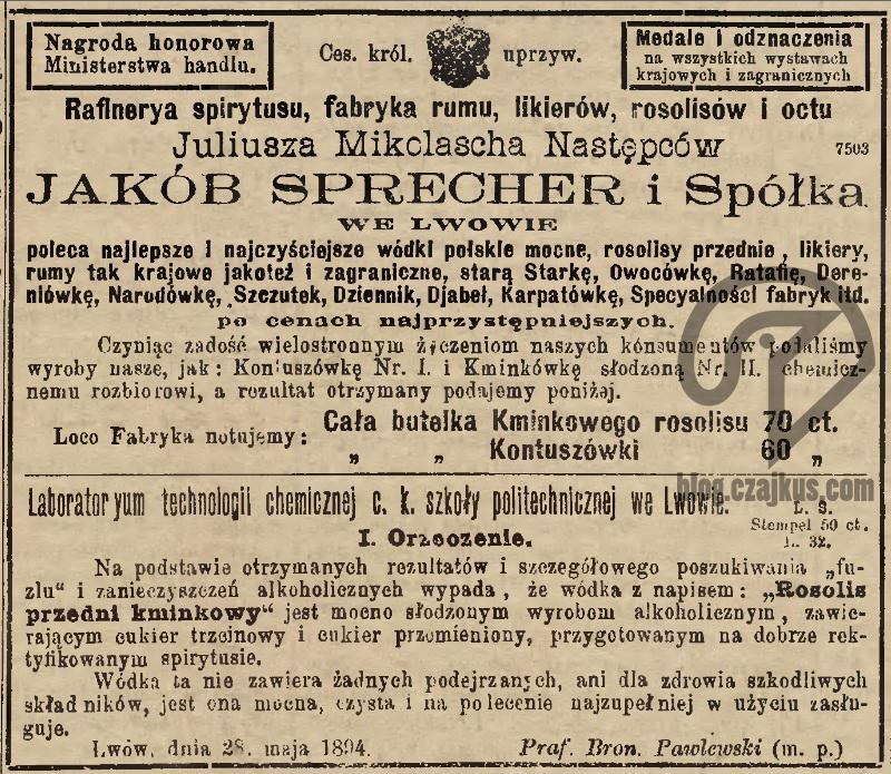 1897 Mikolasch Juliusz, Lwów