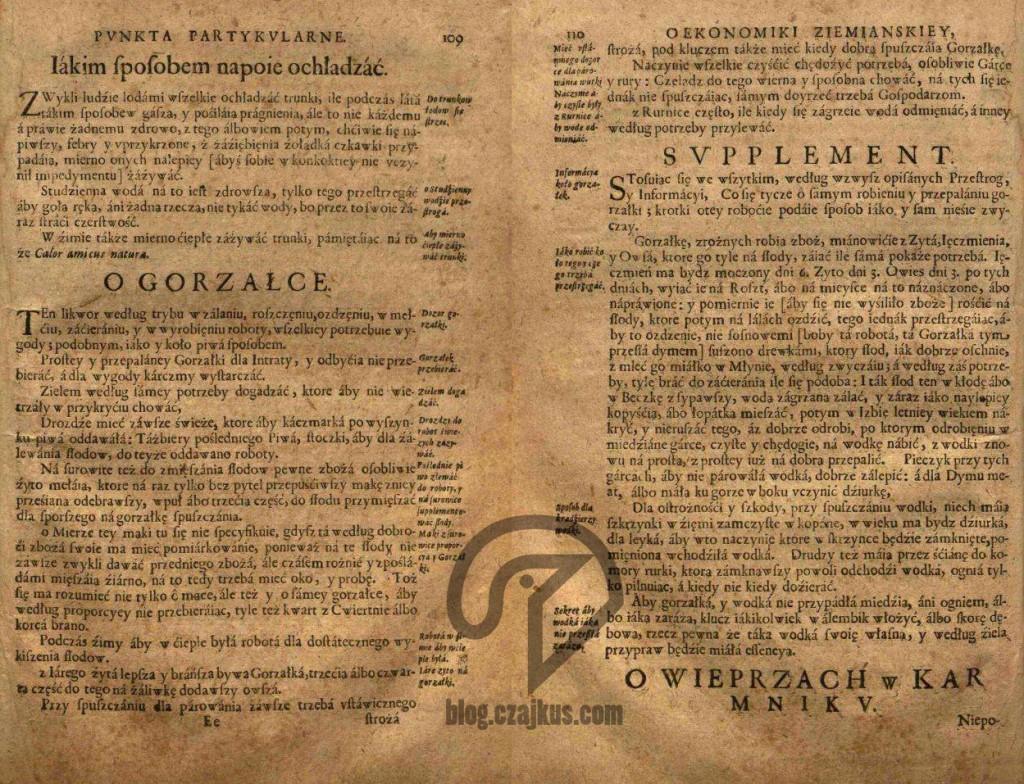 J. K. Haur - Ziemiańska Generalna Ekonomika 1675 - wódka W
