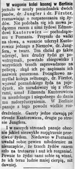 Sprawa Kantorowicza - Przyjaciel ludu 1880 ok