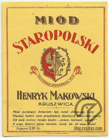 Makowski Henryk, Kruszwica - Miód StaropolskiW