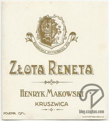 Makowski Henryk, Kruszwica - Złota RenetaW