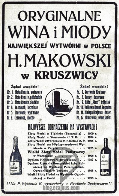 Makowski Henryk, KruszwicaW
