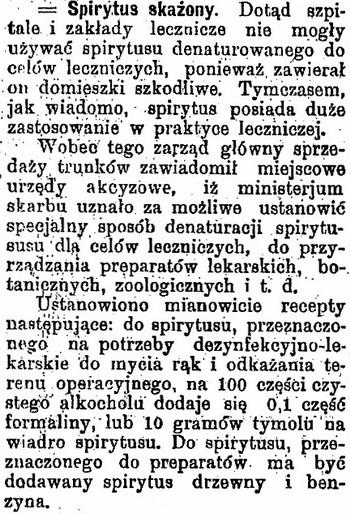 1910 Spirytus skażony