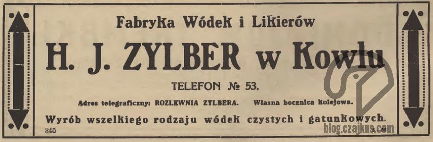 1925 r. Zylber H. J Kowel W