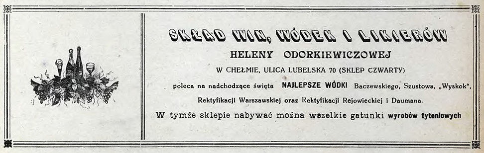 1925 Skład Win iWódekW
