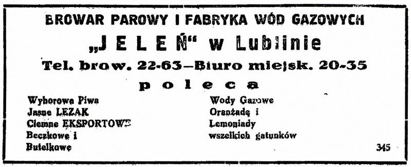 1938 Browar JeleńW