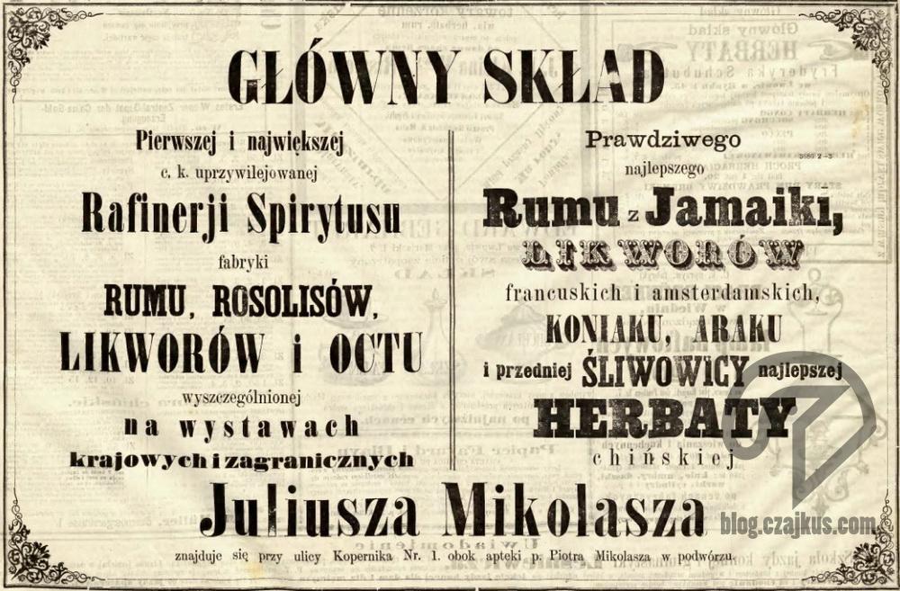 Mikolasch Juliusz, Lwów - 1871W