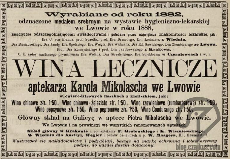 Mikolasch Karol, Lwów - 1889