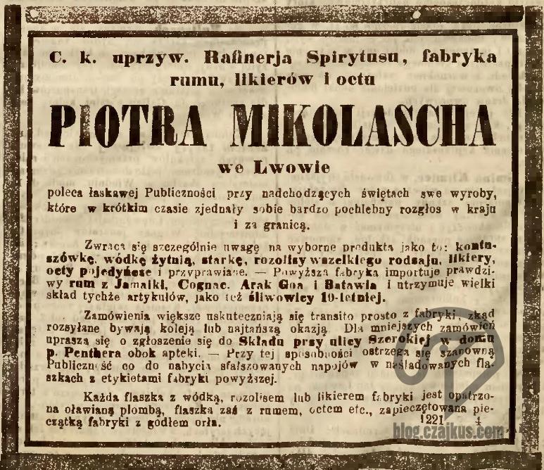 Mikolasch Piotr, Lwów - 1864