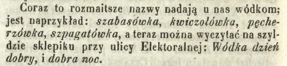 1851 - nazwy wódki