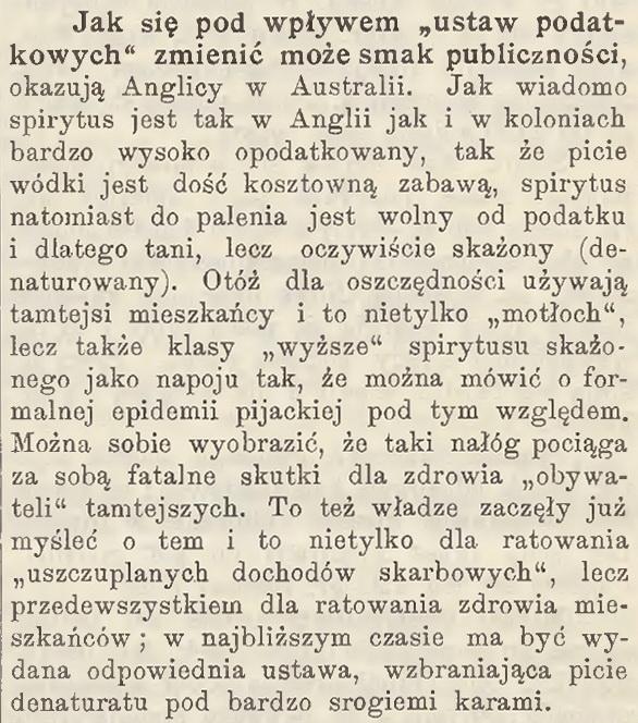 1909 Denaturat wAustralii