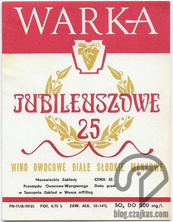 Wino Jubileuszowe Warka 350