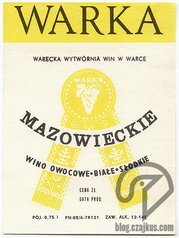 Wino Mazowieckie Warka 350