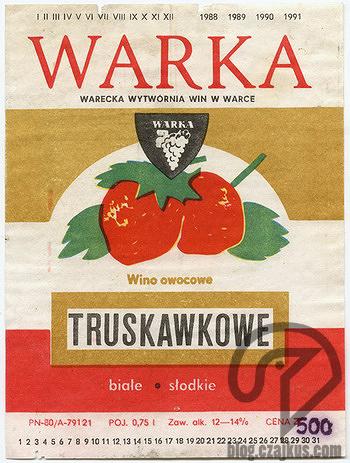 Wino Truskawkowe Warka 350