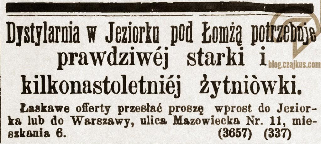 1888 - Jeziorko, starkaW