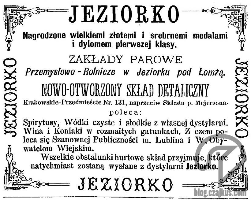 1893 - Jeziorko, LublinW