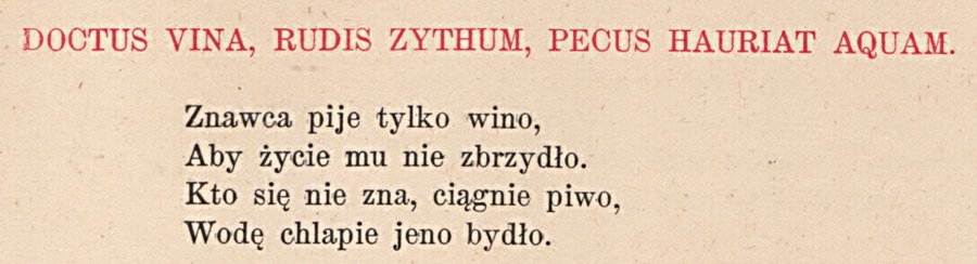 Sentencja - wino2