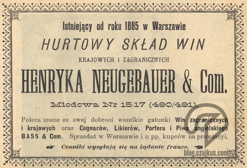 1897 Skład Win Neugebauer