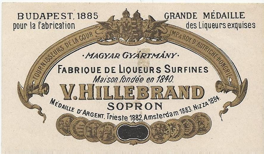 Hillebrand Vincenz, Sopron - 1890s Gilded 6x11