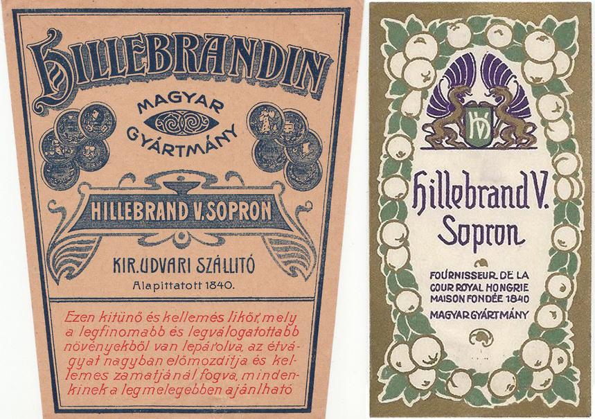 Hillebrand Vincenz, Sopron - 1900s 8x4 iHillebardin