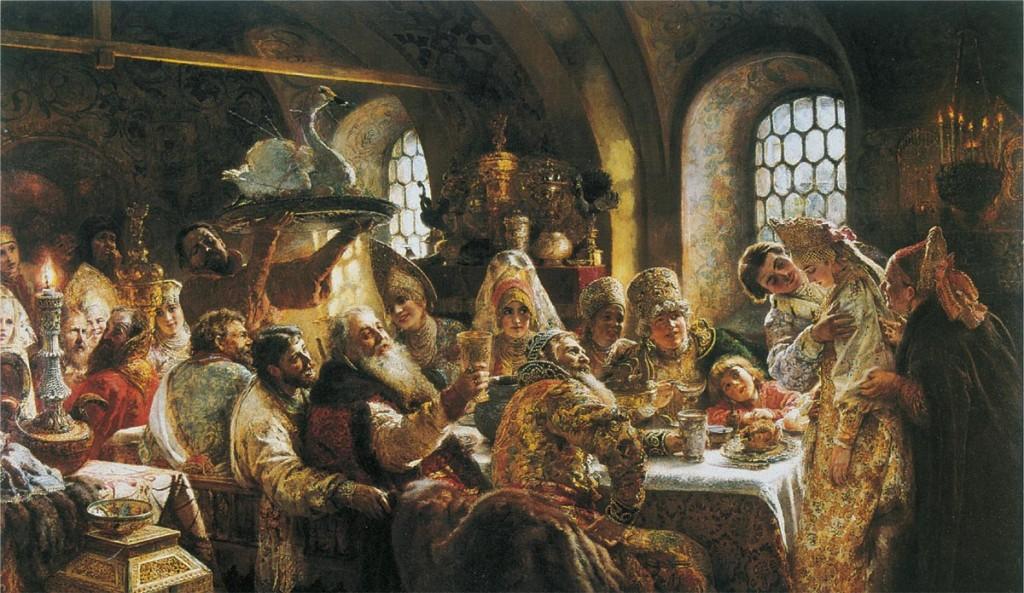 Konstantin Makowski, ''Uczta weselna wrodzinie bojara wXVII w.''
