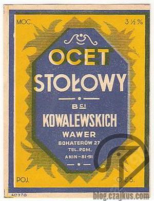 Wawer, Warszawa - Ocet stołowyW