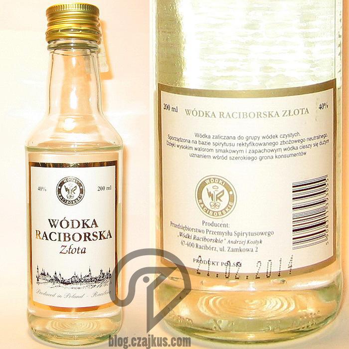 Wódka Raciborska Złota