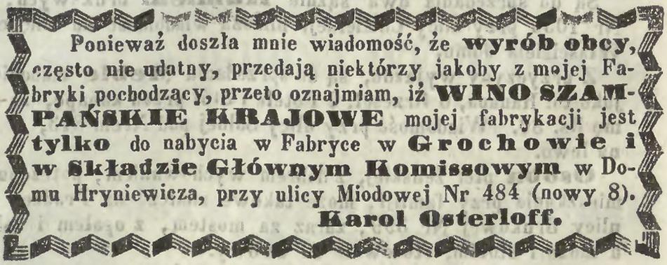 1861 Osterloff Reklama
