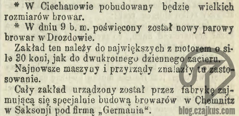 1879 - Poświęcenie