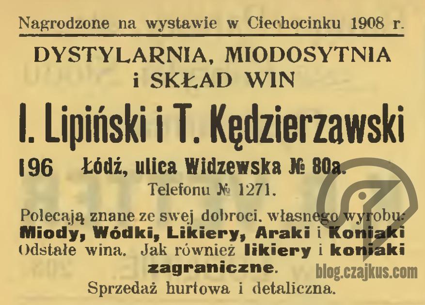 1909 Łódź Lipiński iKędzierzawskiW