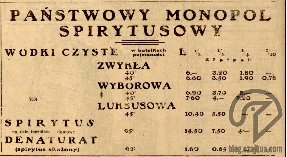 1930 PMS Wódki